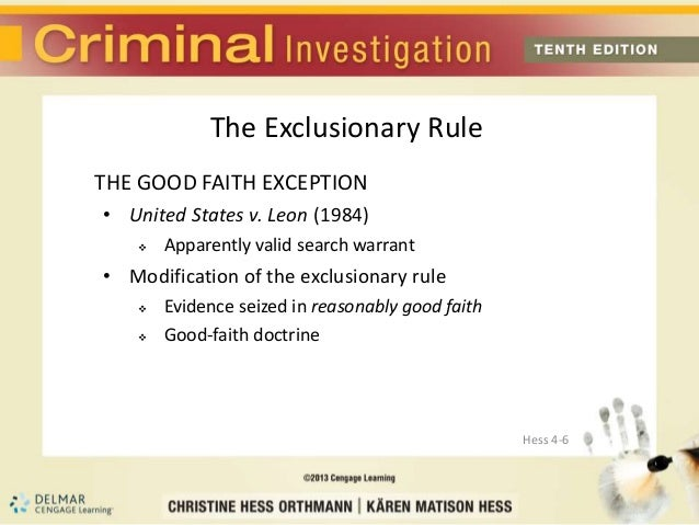 the exclusionary rule in the united states However, if the search is based only on a anonymous tip, the seized weapon may not be offered into evidence, due to the exclusionary rule the us supreme court also invoked the exclusionary rule in kyllo v united states, 533 us 27, 121 sct 2038, 150 led2d 94 (2001.