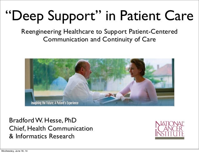 """Deep Support"" in Patient Care Reengineering Healthcare to Support Patient-Centered Communication and Continuity of Care B..."