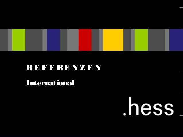 RE F E RE N Z E N International