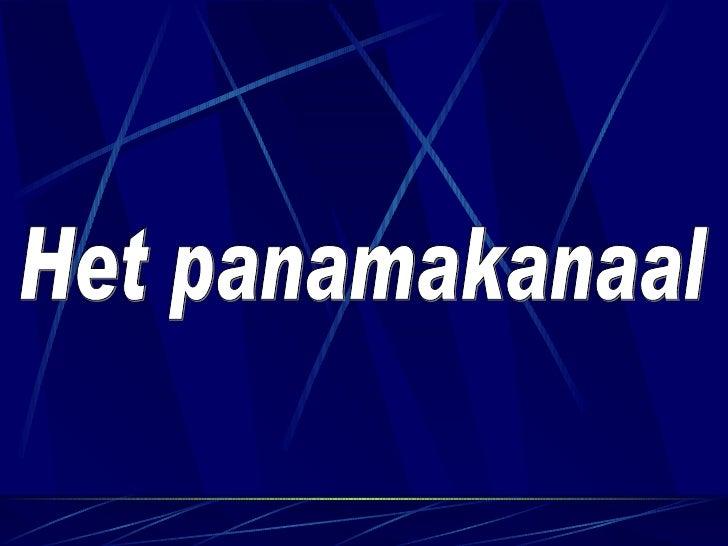 Het Panamakanaal
