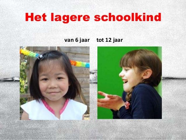 Het lagere schoolkind van 6 jaar tot 12 jaar