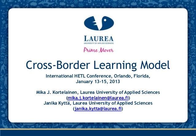 Hetl cross border learning model-kortelainen_kytta_15.1.2013