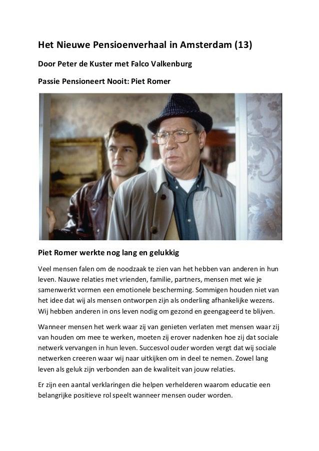Het Nieuwe Pensioenverhaal in Amsterdam (13) Door Peter de Kuster met Falco Valkenburg Passie ...