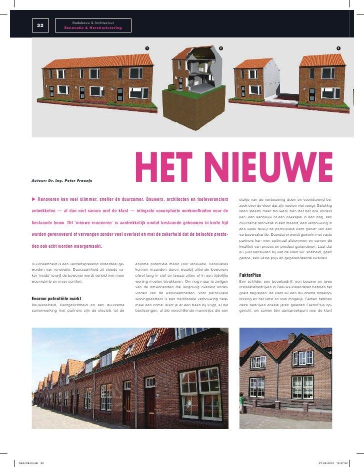 Stedebouw & Architectuur           32              Renovatie & Herstructurering                                           ...