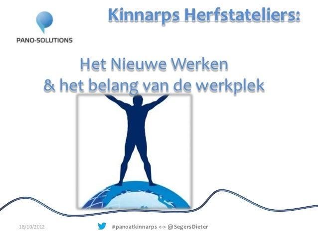 Kinnarps Herfstateliers:             Het Nieuwe Werken         & het belang van de werkplek18/10/2012       #panoatkinnarp...