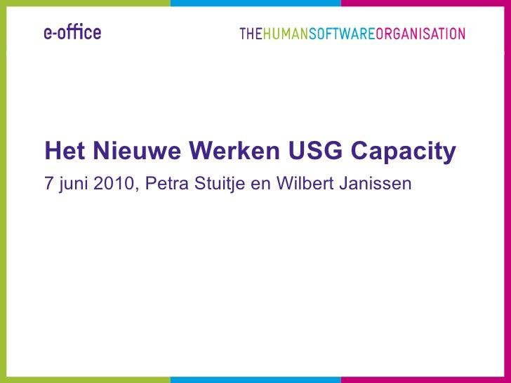 Het Nieuwe Werken USG Capacity 7 juni 2010, Petra Stuitje en Wilbert Janissen