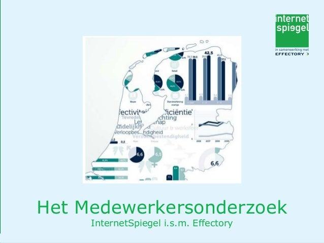 Het Medewerkersonderzoek InternetSpiegel i.s.m. Effectory