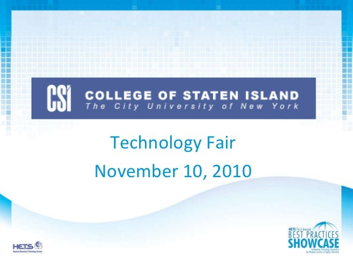 Technology Fair November 10, 2010