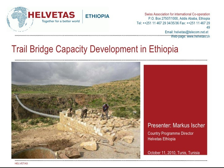Helvetas Ethiopia trail bridge experience