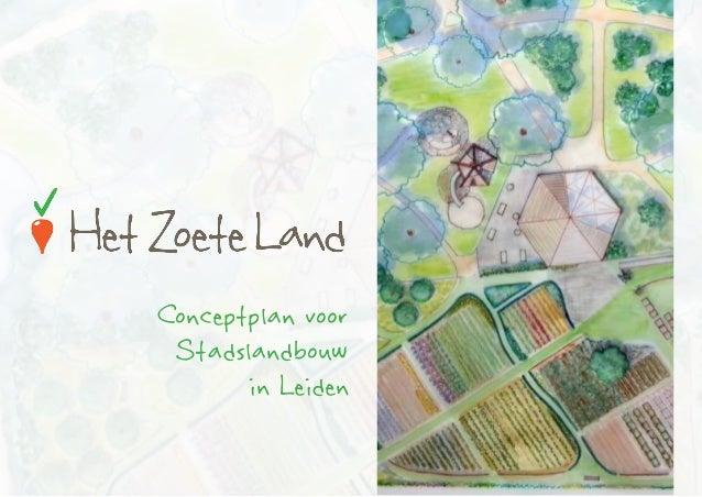 Het Zoete Land Conceptplan
