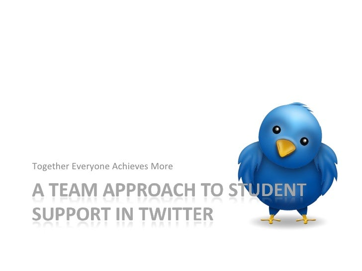 A Team Approach to Student Support in Twitter
