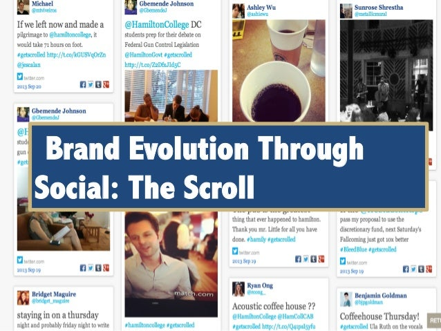 Brand Evolution Through Social: The Scroll