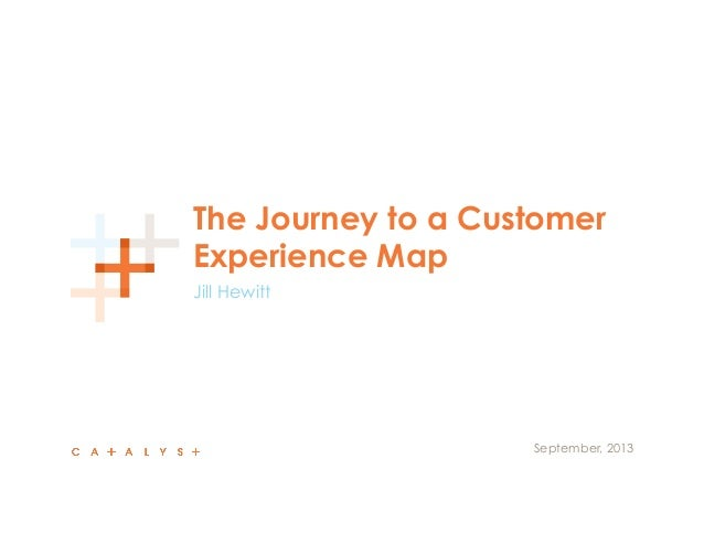UX STRAT 2013: Jill Hewitt, Journey to a Customer Experience Map