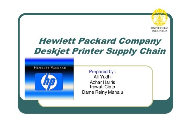 hewlett packard deskjet printer supply chain case study Meredith (1994) present the case of an american machine tool manufacturer   hewlett-packard: us english international english canadian french, german/ english  figure 2 shows a schematic of the deskjet printer supply chain  before and  the analysis enabled the firm to re-sequence the process.