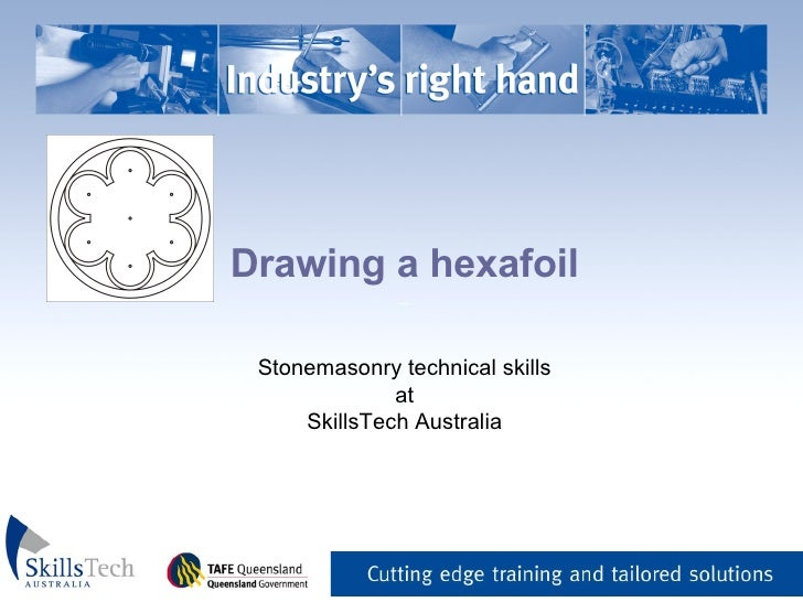 Drawing a hexafoil _   Stonemasonry technical skills at SkillsTech Australia