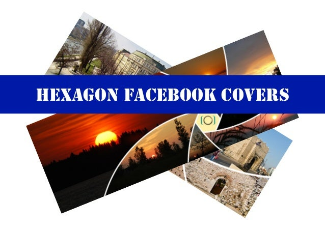 Hexagon Facebook Covers Photoshop and Photoshop Elements Actions