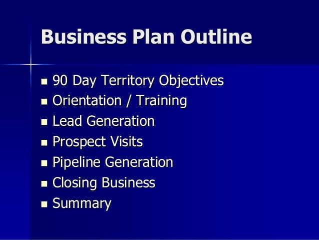 Territory business plan