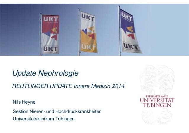 Update Nephrologie REUTLINGER UPDATE Innere Medizin 2014 Nils Heyne Sektion Nieren- und Hochdruckkrankheiten Universitätsk...
