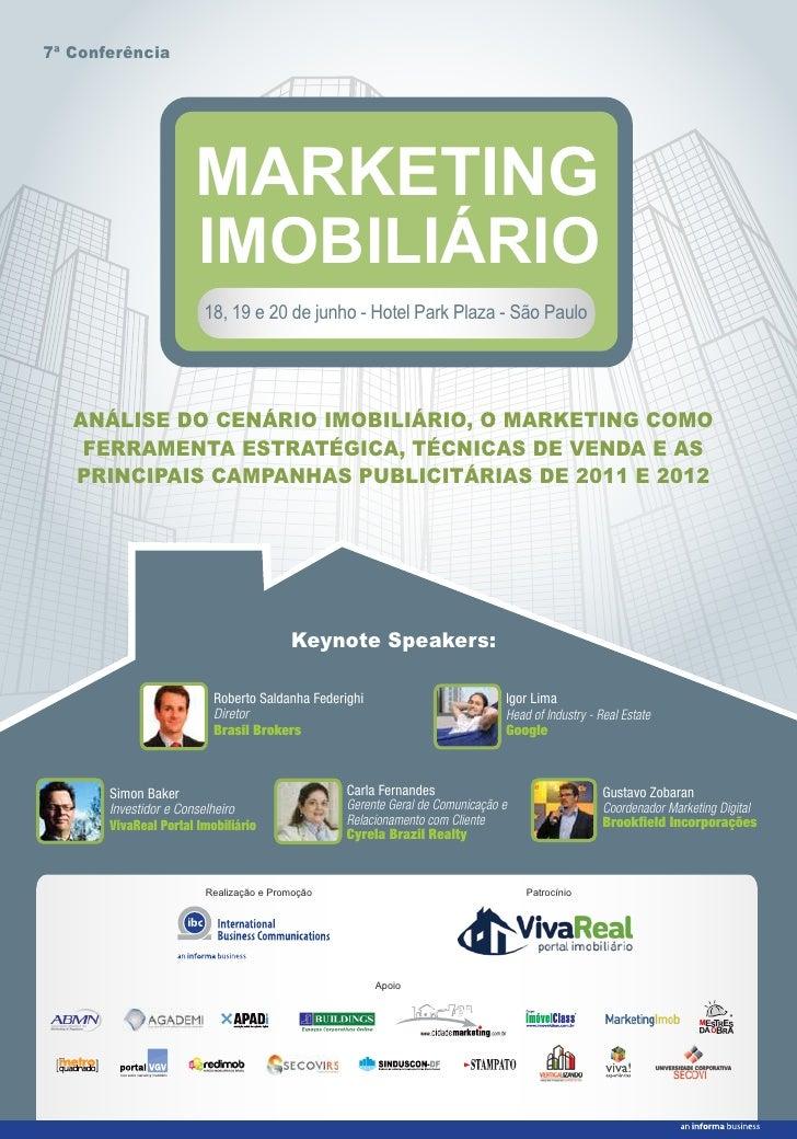 7ª Conferência                      MARKETING                       IMOBILIÁRIO                        18, 19 e 20 de junh...