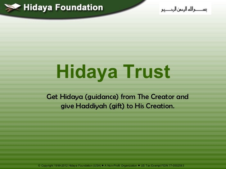 Life and Death – How and Why? Hidaya Foundation