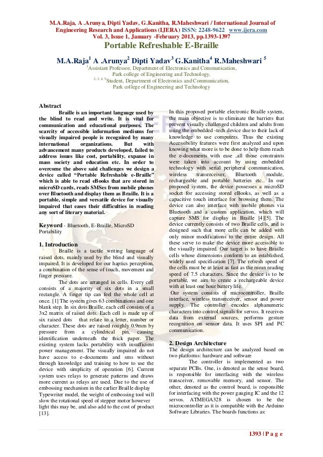 M.A.Raja, A .Arunya, Dipti Yadav, G.Kanitha, R.Maheshwari / International Journal of      Engineering Research and Applica...