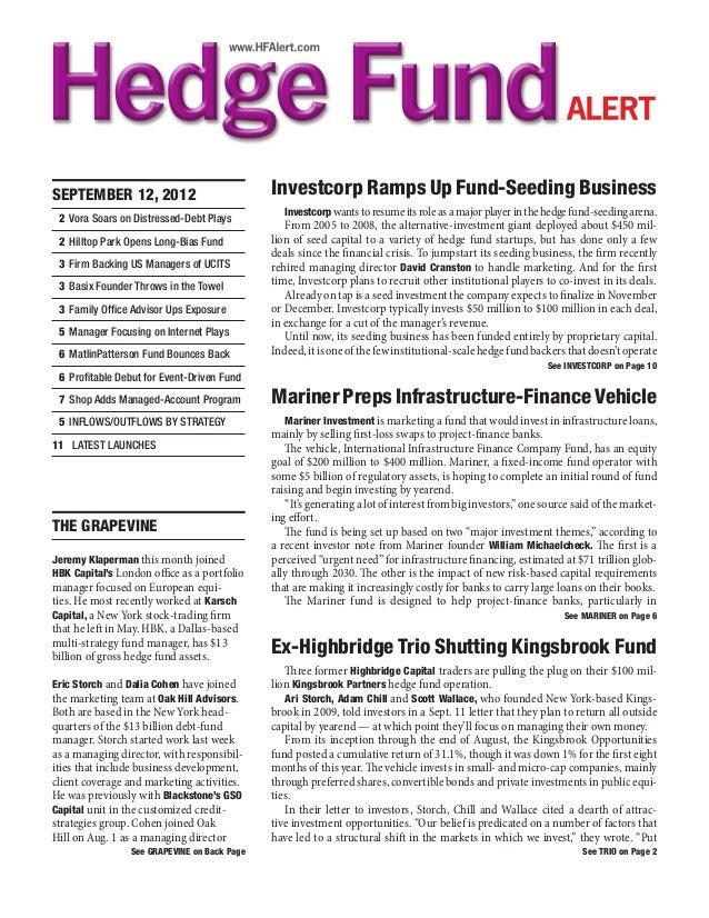 OGCP Hedge Fund Alert for September 2012
