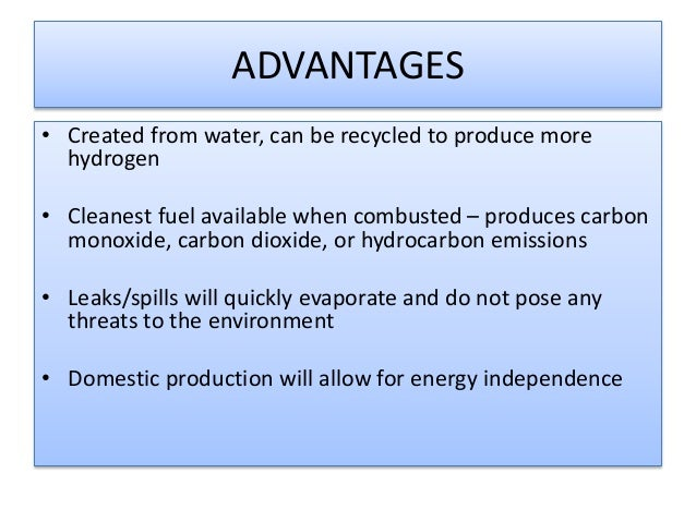 hydrogen fuel as an alternative energy The truth about hydrogen it is part of a department of energy program for testing alternative fuels in colder hydrogen fuel cells already replace.