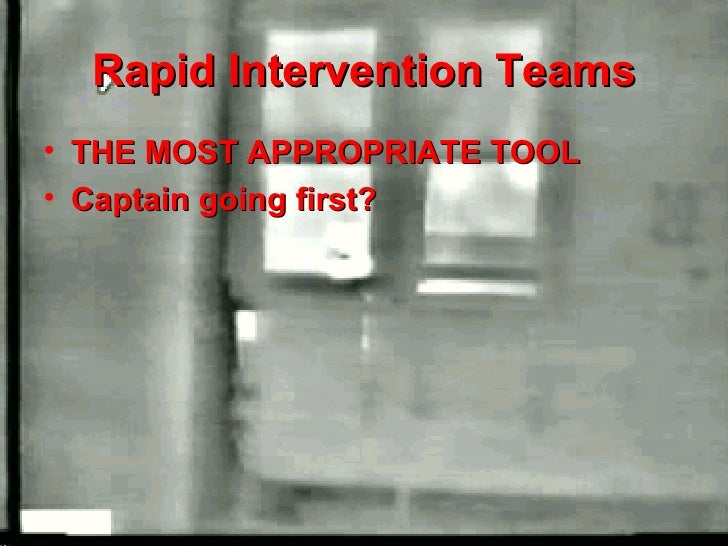Rapid Intervention Team Ppt Rapid Intervention Teams