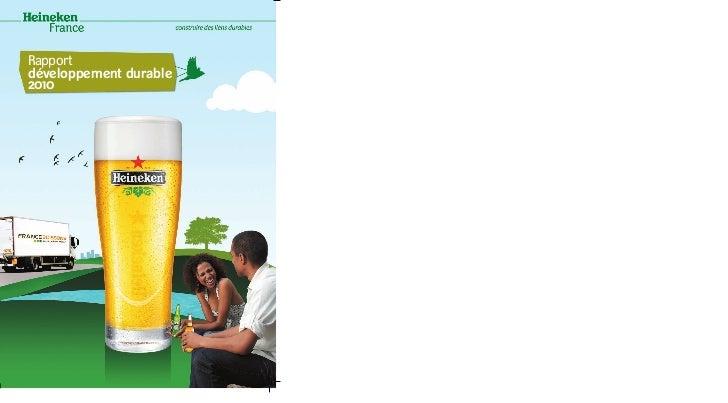 Rapport développement durable 2010 Heineken France