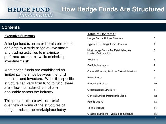 Hedge fund business plan