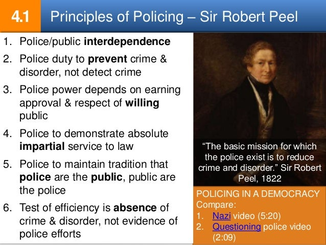 robert peel nine principles essay Early roots of policing: sir robert peel's (1820s) nine principles and their connection to modern day policing sir robert peel is known in the history books.