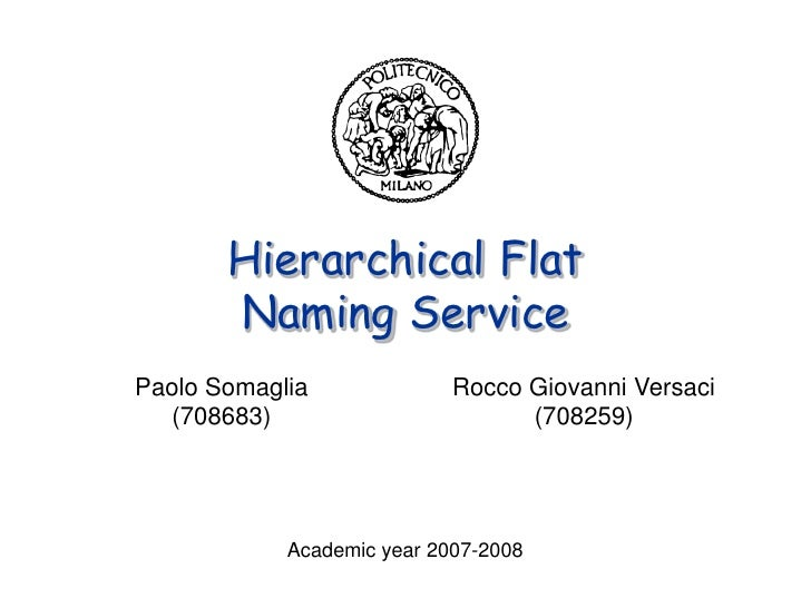 Hierarchical Flat Naming Service - CORBA-Based Academic Project