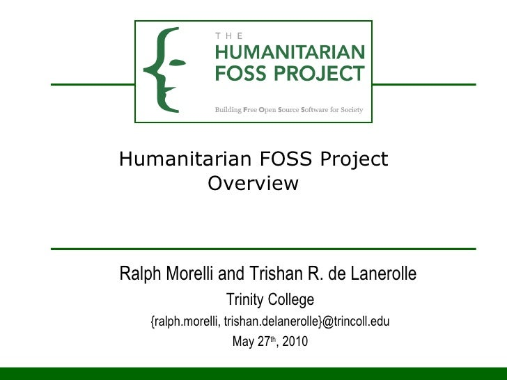 Humanitarian FOSS Project Overview