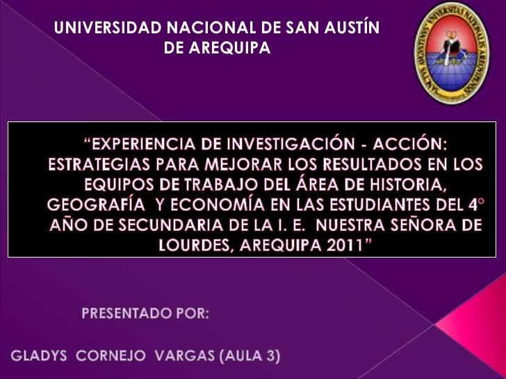 UNIVERSIDAD NACIONAL DE SAN AUSTÍN           DE AREQUIPA