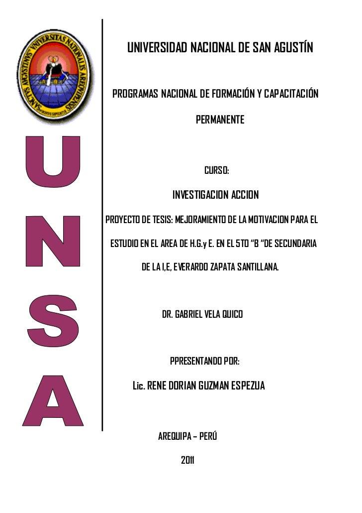 UNIVERSIDAD NACIONAL DE SAN AGUSTÍN PROGRAMAS NACIONAL DE FORMACIÓN Y CAPACITACIÓN                           PERMANENTE   ...
