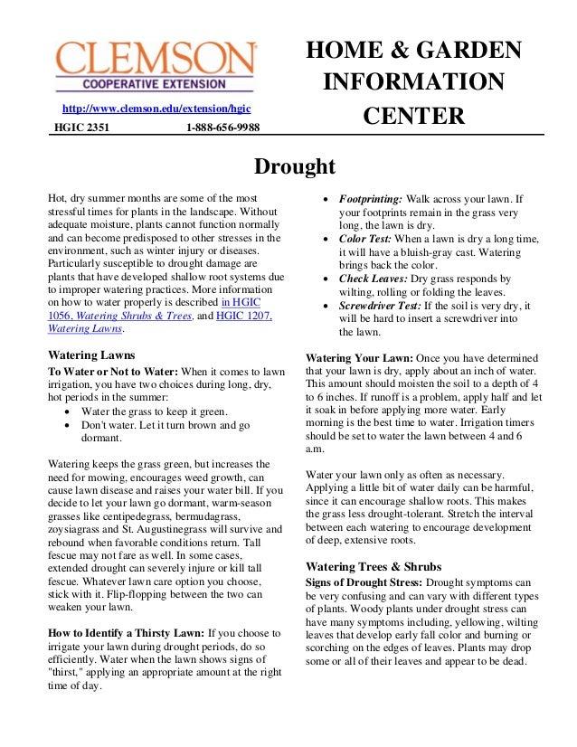HOME & GARDEN                                                         INFORMATION   http://www.clemson.edu/extension/hgic ...