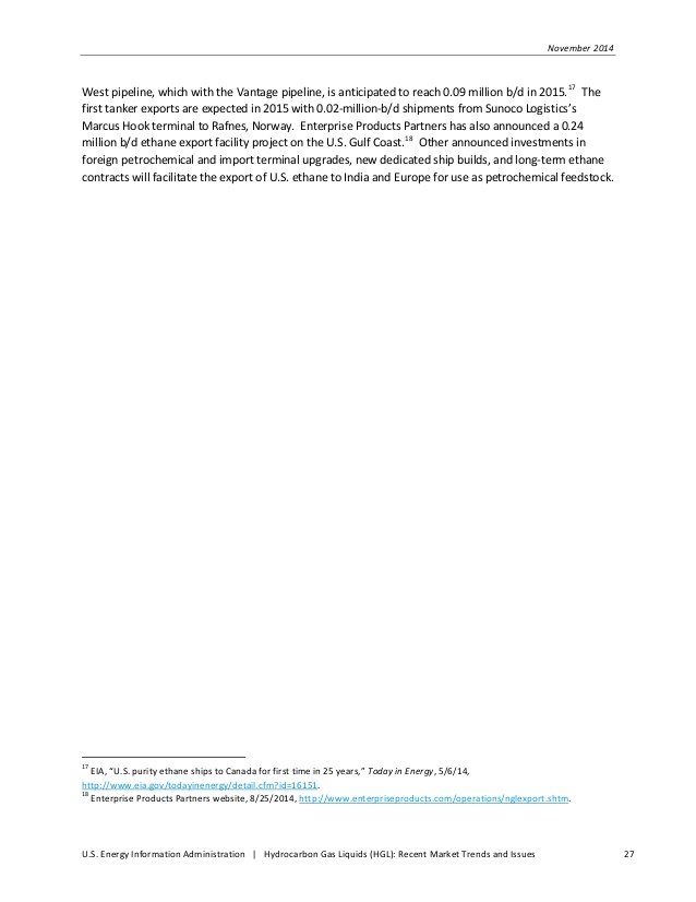 Hydrocarbon Gas Liquids (HGL): Recent Market Trends and Issues