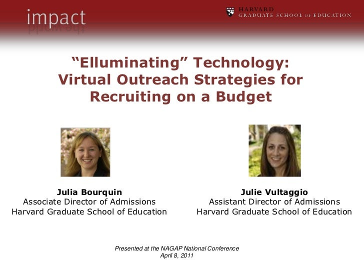 """Elluminating"" Technology:<br />Virtual Outreach Strategies for<br />Recruiting on a Budget<br />Julie Vultaggio<br />Assi..."