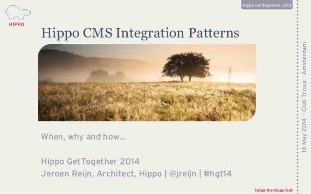 Hippo CMS Integration Patterns