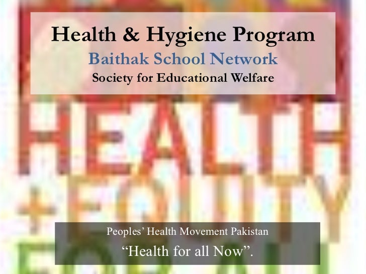 Health & Hygiene Program- Baithak School Network