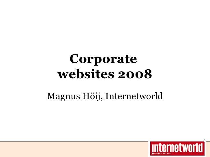 Hh Webranking Awards 2008   Magnus Hoij Presentation
