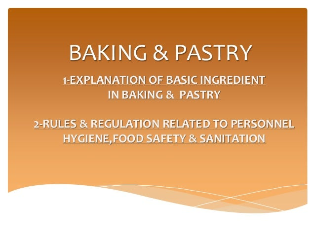 Baking And Pastry physics subjects
