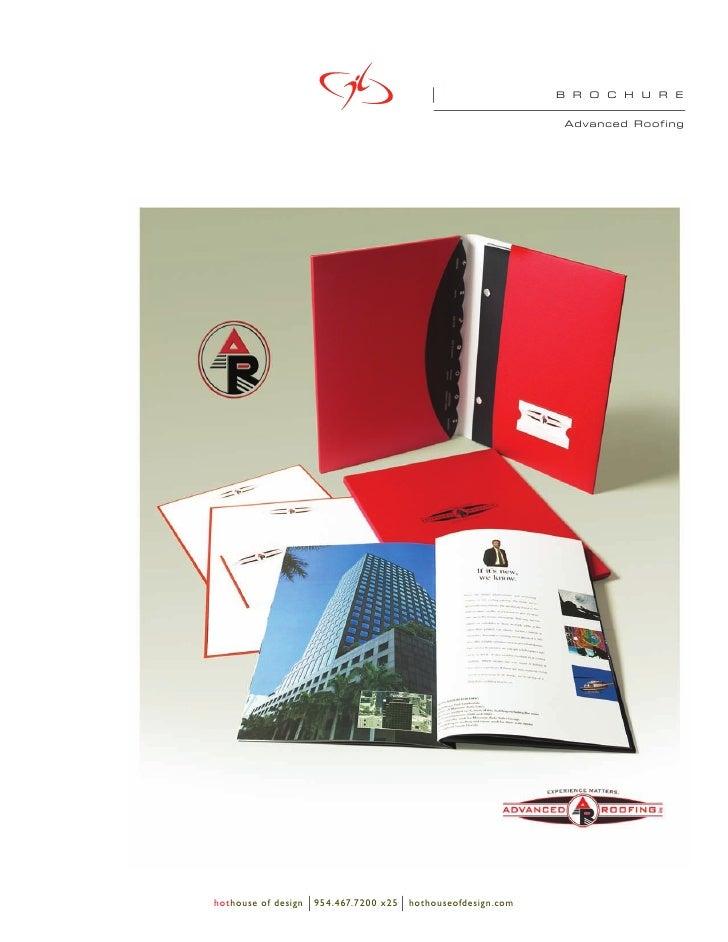 B R O C H U R E                                                                  Advanced Roofing     hothouse of design  ...