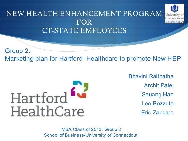 Marketing proposal to Hartford Healthcare