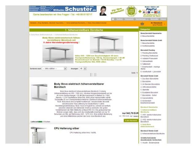 Elektrisch oder hydraulisch höhenverstellbare Bürotische