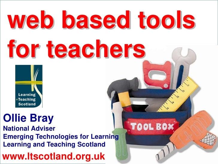 Web Based Tools for Teachers