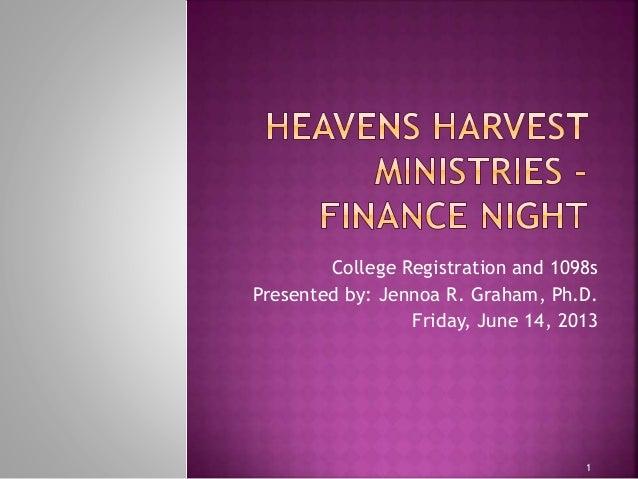 HHM Finance Night - College Enrollment
