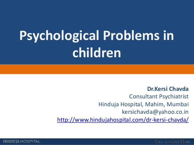 Webinar on Psychological Disorder in Children: Hinduja Hospital