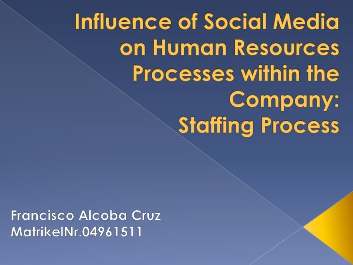    Introduction   Social Media def.   Human Resources: Staffing Proccess    › How did Staffing Process use to work befo...