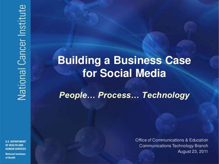 Webinar: Building a Case for Social Media